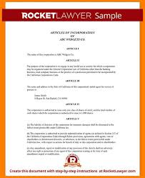 articles of incorporation template articles of incorporation
