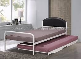 modern single bed plus convertible pull out bed c w mesh platform