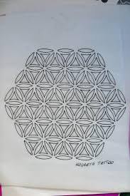 flower of life drawing irish st tattoo