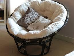 Rattan Papasan Chair Cushion Black Rattan Outdoor Papasan Chair With White Cushion
