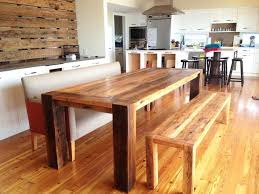 Triangle Dining Table With Bench Dining Tables With Corner Bench Seating Newsham Reclaimed Wood