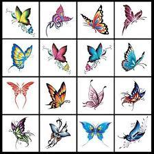 wholesale 50 pcs lot 6cm x 6cm single butterfly stickers