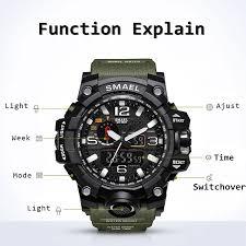 amazon com smael men u0027s analog digtal sport watch dual quartz
