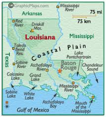 louisiana geographical map physical features all about louisiana