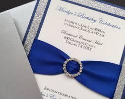 wedding invitations royal blue royal blue wedding invitations etsy