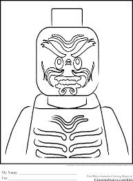 lego coloring pages ninjago ginormasource kids