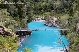 New Zealand Chair Swing Azure Waters And Swing Bridge At Hokitika Gorge New Zealand