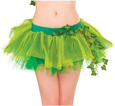 party city halloween tutus womens dc comics super villain poison ivy tutu skirt