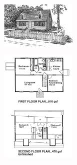 cape cod house plan 94004 total living area 1300 sq ft