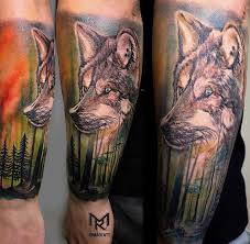 wolf arm 3d tattoos