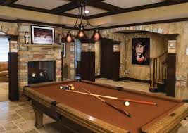 Pool Table In Living Room Fancy Bat Room Ideas With Brown Pool Table Living