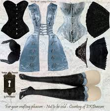 Goth Looks For Halloween Ekduncan My Fanciful Muse Gothic Girls Paper Doll Dress Up For