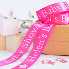 new baby 25mm personalised printed ribbon by altered chic