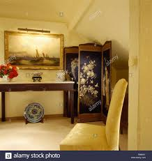 hall painting large painting above console table in eighties hall with an antique