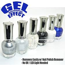 earring remover kleancolor 6 gel effect nail black white silver top coat