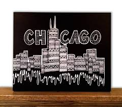 Home Decor Canvas Art by Chicago Canvas Art Chicago Skyline Windy City Home Decor