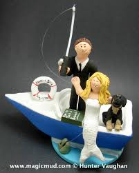 fisherman cake topper boating wedding cake toppers