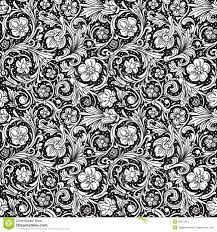 black and white ornamental seamless vector pattern royalty free