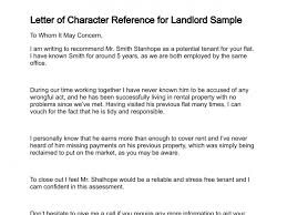 Sample Character Reference In Resume Best Solutions Of Example Character Reference Letter For Tenant