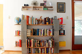 wood and cinder block bookshelves idea decofurnish