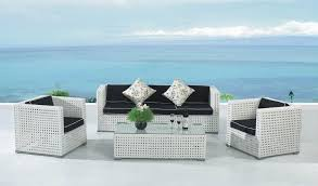 Relax With White Wicker Outdoor Furniture All Home Decorations - White outdoor sofa