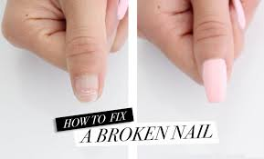 how to fix a broken nail diy acrylic nails at home youtube