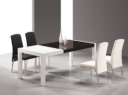 Black White Dining Table Chairs Modern Dining Tables For Look Home Design Studio
