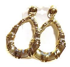 clip on earrings clip on earrings bamboo earrings gold tone clip