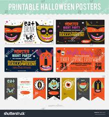 halloween cards cute cartoon monsters happy stock vector 319292546