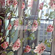 Kitchen Curtains Red by Red Floral Printed Kitchen Curtains Red Flower Curtains Argos Red