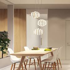 Hanging Light For Bedroom Modern Led Pendant Light For Kitchen Dining Room White Pendant