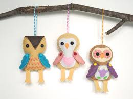 handmade felt ornaments for the season iris