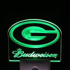 green bay packers lights green bay packers budweiser 4 by 4 led night sensing light
