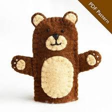 pattern bear finger puppet pattern bear felt finger puppet