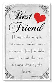 miles between us best friend birthday present gift small wallet