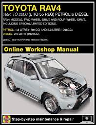 toyota rav4 petrol and diesel 94 jan 06 l to 55 haynes online
