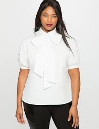 plus size white blouses sleeve bow blouse s plus size tops eloquii