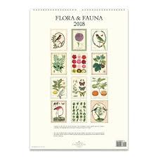 cavallini calendars flora fauna poster calendar 2018 cavallini papers co