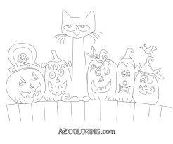 pete cat halloween printable coloring coloring
