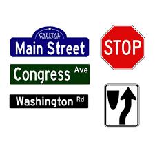 decorative sign components capital streetscapes