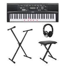 yamaha keyboard lighted keys yamaha ez220 key lighting keyboard with stand headphones and bench