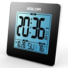 desk clocks modern baldr digital alarm clock thermometer lcd backlight calendar