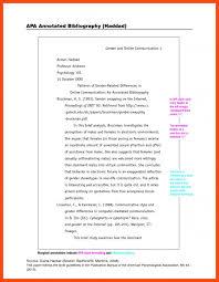 sample annotated bibliography apa program format