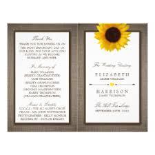 Sunflower Wedding Programs Sunflower Wedding Flyers U0026 Leaflets Zazzle Co Uk