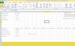 chore list template free chore payment schedule template for excel 2013
