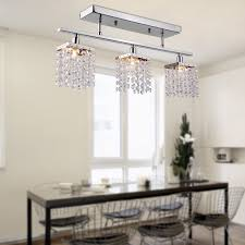 flush ceiling lights living room 3 light hanging crystal linear chandelier with fixture modern