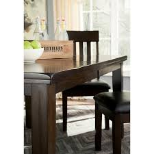 ashley haddigan 6 piece dining set with bench in dark brown d596