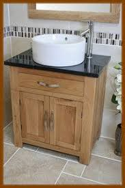 Vanity Units And Basins Solid Oak Vanity Unit With Basin Sink 700mm Bathroom Prestige
