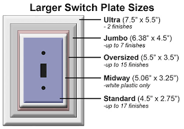 light switch cover dimensions what are the dimensions of oversized switch plates