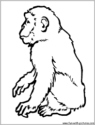 chimpanzee coloring page free to download 9255
